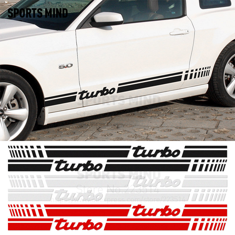 1 Pair SPORTS MIND TURBO Reflective material Vinyl Sticker For fiat Renault seat nissan opel peugeot kia mazda accessories