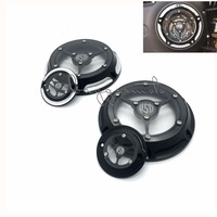 RSD Derby Cover Timing Timer Covers 6 Holes CNC Deep Cut Black Chrome Aluminum For Harley