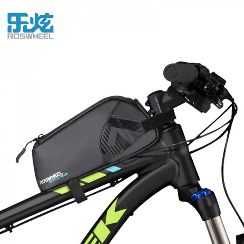 Roswheel Bicycle Bags Waterproof Bicycle Bike Front BEAM UPPER tube bags Mountain bike Road bike Acessories CROSS SERIES outdoor bike bicycle upper tube bag silver black