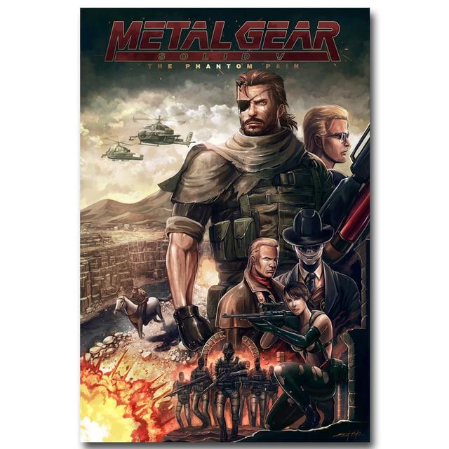 Шелковый Плакат Гобелен Игра Metal Gear Solid V Вариант 7