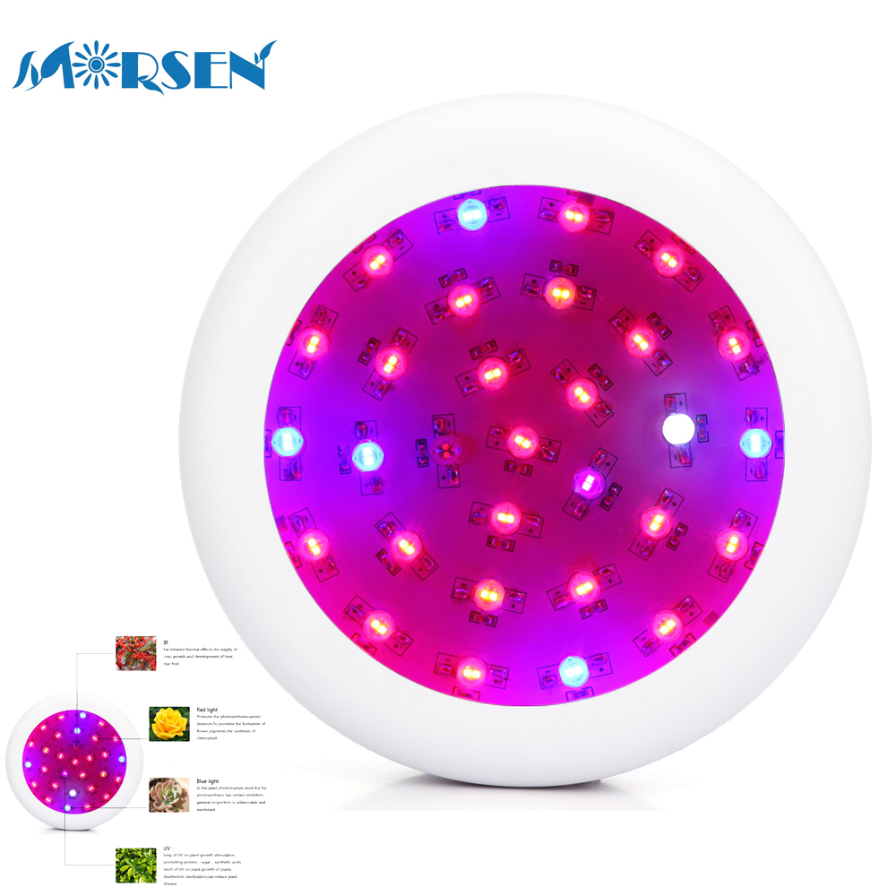 18pcs High Power 300W UFO Led Grow Light Full Spectrum UV IR Red Blue White Led Plant Lamp For Plants Flower Seeds Growing Box30 10pcs lot full spectrum led grow light 216w ufo grow box red blue white warm uv ir for indoor hydroponics plant and flower