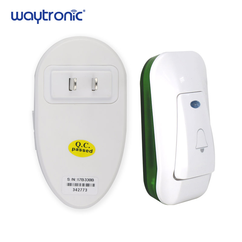 Image 5 - Office Home Wireless Door Bell 220V Cordless Ding Dong Door Chime EU Plug 1 Plug in Receiver 1 Push Button TransmitterDoorbell   -