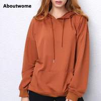 Casual Hoodies Women Pullover Loose Batwing Sleeve Sweatshirts Camel Simple Hoodie Plus Size Newest Sweatshirt Solid