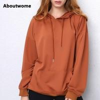 2017 Hoodies Women Camel hooded Sweatshirt Long Sleeve Pullover Loose Casual Hoody Black Green Red