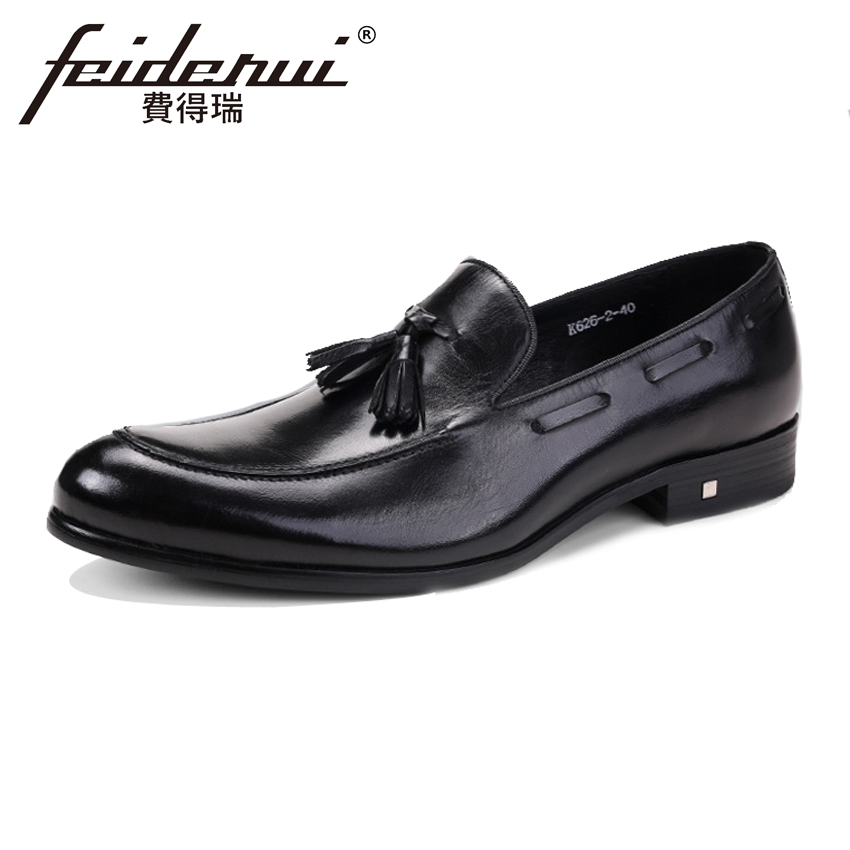 Plus Size Fashion Handmade Men's Loafers Round Toe Slip on Man Comfortable Flats Genuine Leather Height Increasing Shoes ASD85 pl us size 38 47 handmade genuine leather mens shoes casual men loafers fashion breathable driving shoes slip on moccasins