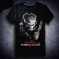 2017 3D Film New Aliens Vs Predator 2 Requiem T Shirt Game AVP2 Men T Shirt