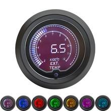 52 мм Датчик температуры выхлопных газов EGT цифровой ЖК-дисплей 7 цветов с датчиком