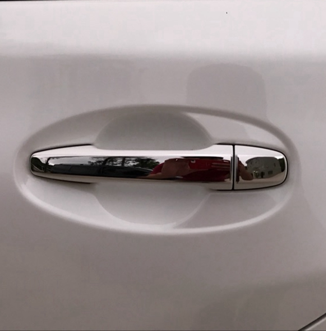 High Quality Car Stainless Steel Door Handle Cover Trim Sticker For Toyota Wish 2010 2011 2013 2014 2015 8PCS(China)