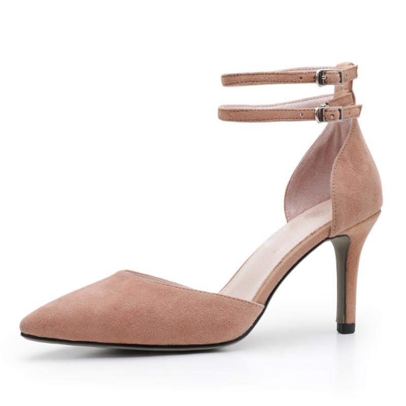 fe5d7a54 8 Bombas Variedad Altos pink Cuero Beige S155 Mujeres Una black Colores  Verano punta De Stilettos khaki Cm Tacones Mujer Zapatos Estrecha Sexy ...