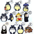 Japan Anime Hayao Miyazaki My Neighboor Totoro Figuras Totoro Bus No Face Keychain Keyring Pendant 2 Sides High Quality