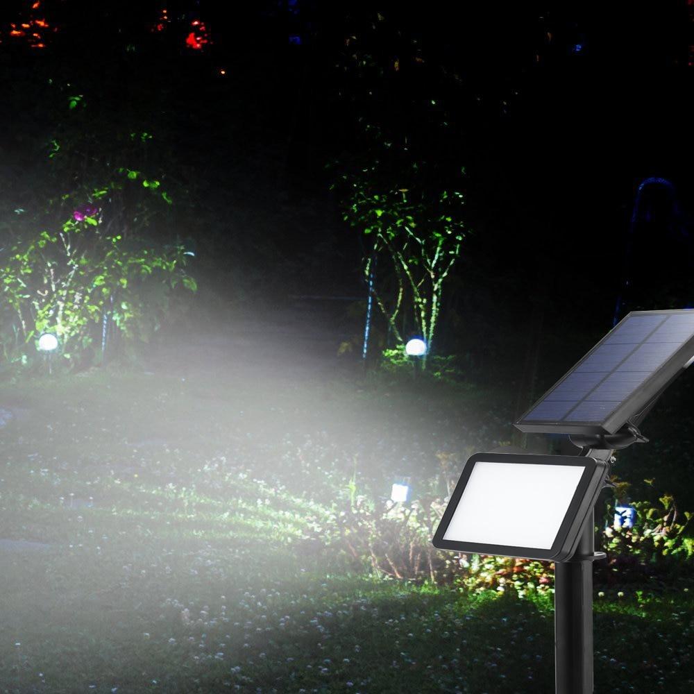Fvtled solar spotlight adjustable 48 leds solar in ground for Outdoor landscape wall lighting