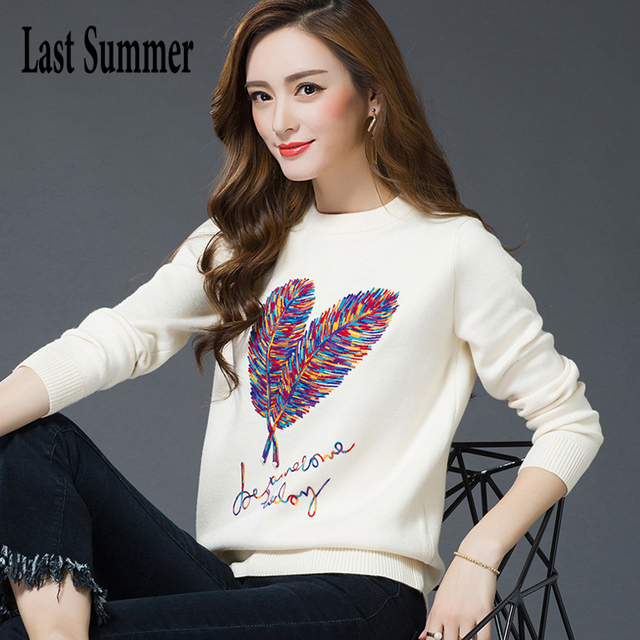 New  Fashion 2018 Women Autumn Winter  Sweater Pullovers Casual Warm Long Sleeve Female Knitted Sweaters Pullover Sweater Lady