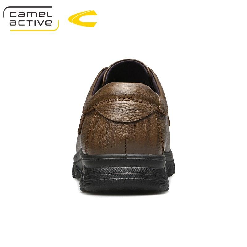 Genuínas Confortável Sola cáqui Dos outono Casuais Amortecimento Marrom Loafers Novos Camel Active Couro Flats Primavera Homens De Sapatos qTOt4Uw7x
