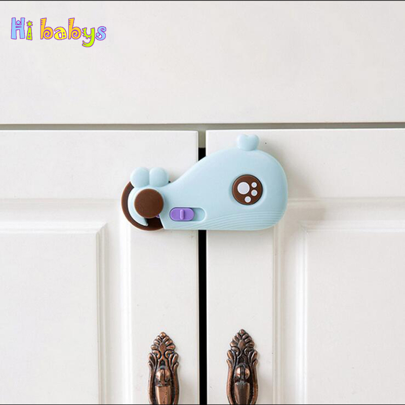 3PCS Baby Lock Cupboard Cabinet Door Drawer Locks Infant Fingers Protection Lock Child Lock Protection Equipment Refrigerator Cl