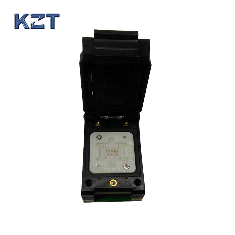 BGA63 0.8 MM Sonde programmeur proman socket adaptateur taille 10.5*13.5mm 9*11mm BGA63 à DIP48 sonde pin socket BGA63 flip pogo pin