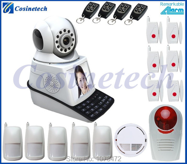 US $217 9 |New hot network video with IP camera WIFI alarm system for home  security,cloud video camera,free calling camera alarm system on