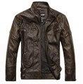 Новые поступления весна осень бренд кожаные куртки мужчины бомбардировщик кожаная куртка дубленка мотоцикла XD033