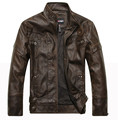 New Arrivals  spring Autumn Brand Leather Jacket Men  Bomber Leather Jacket Sheepskin Coat Motorcycle Jacket XD033