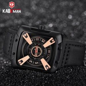 Image 4 - 612G New KADEMAN Fashion Watch Men Quartz Outdoor Sport Leather Wristwatches Casual Waterproof Unique Design Relogio Masculino