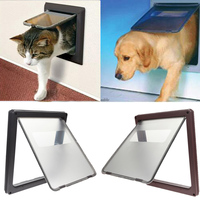 17 3 Large Pet Cat Puppy Dog Flap Door Gate Lock Lockable Safe Pet Doors For