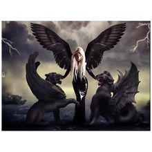 diamond Embroidery Angel Demon Dragons pattern 5D DIY paintings 3D cross stitch mosaic stickers decor