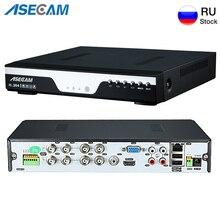 Grabadora de vídeo Digital Onvif Cámara IP de red, Super 8CH, 4MP, AHD, DVR, NVR, alarma de Audio, RS485