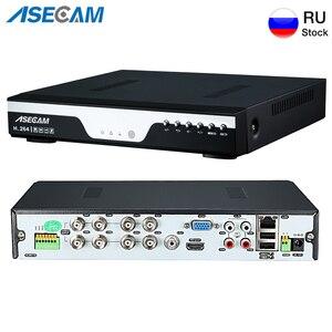 Image 1 - Super 8ch 4mp ahd dvr nvr gravador de vídeo digital onvif rede ip câmera áudio alarme rs485 vigilância vídeo