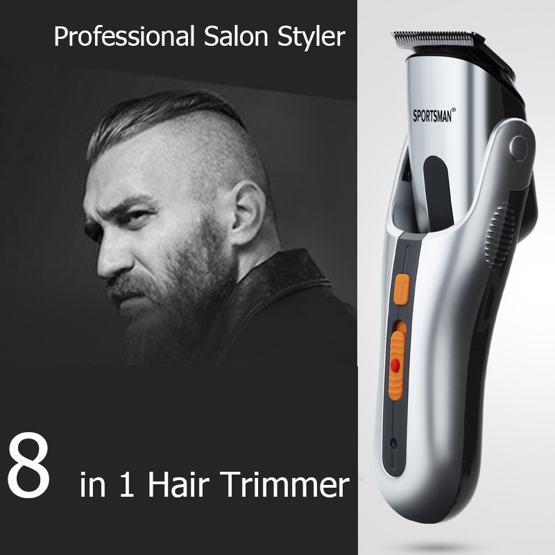 Electric rechargeable 8 IN1 Multifunction hair clipper professional hair trimmer electric Beard Trimmer hair cutting machine цена