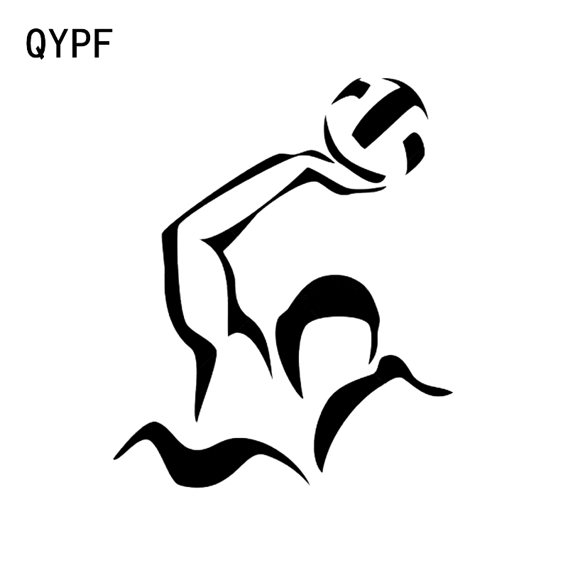 QYPF 11.2*13.5 Interesting Aerobic Exercise Water Polo Athlete Decor Car Sticker Vinyl Silhouette C16-2040