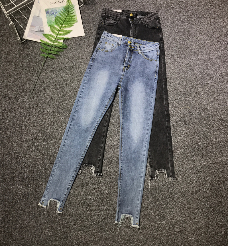 Cheap Wholesale 2019 New Spring Autumn Hot Selling Women's Fashion Casual  Denim Pants XC3