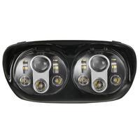 1 компл. 90 Вт двойной светодиодная фара в сборе мотоцикл проектор фары для 2004 2013 дорожного скольжения