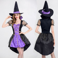 2018 New Halloween Witch Costumes Christmas Carnival Clothing Fantasia Infantil Adult Fairy Costume Vampire Cosplay Party