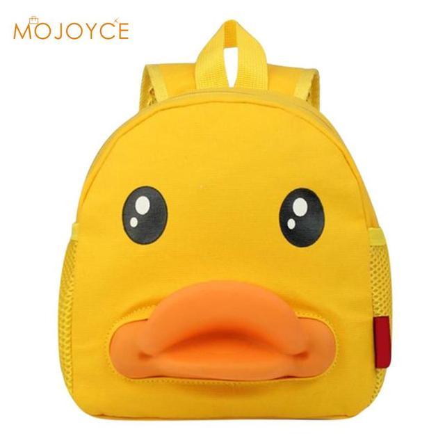Super Cute Little Yellow Duck Backpack Old Baby School Bag Children Mochila  Infantil Girls Boys Kids dbb2338a7e068