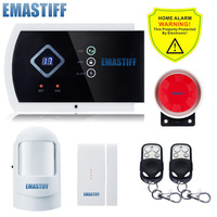 Russian Spanish English Wired Wireless Voice Prompt Intruder Alarm System With IOS Android APP Control Home