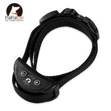 PaiPaitek 1 PC perro Collar de entrenamiento, con 7 niveles Anti corteza perro Collar de choque eléctrico ajustable de Nylon para mascotas perro collar de entrenamiento