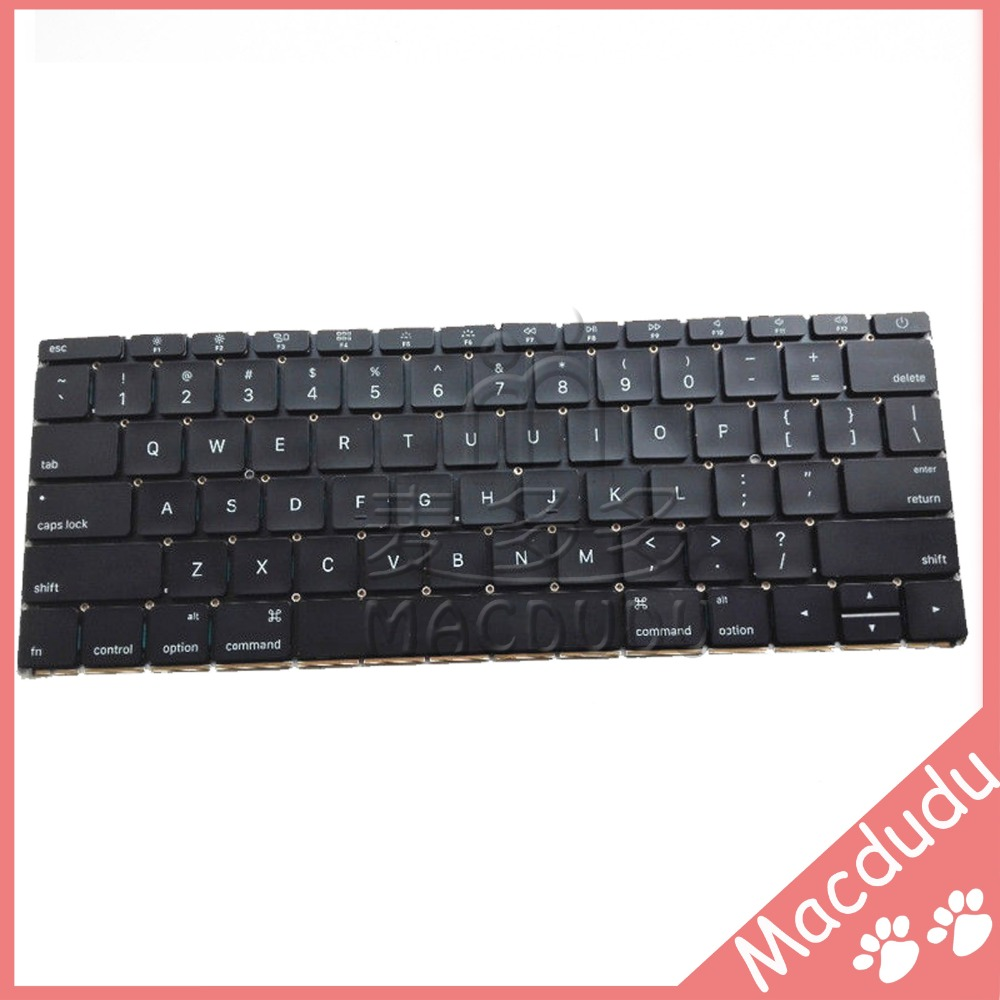 New US Keyboard For MacBook Retina 12 A1534 2015 year genuine 12 inch a1534 grey palm rest 2016 year for macbook air retina a1534 palmrest top case topcase us keyboard with backlight