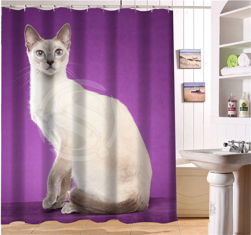 W622#205 Custom cats kitten animal fantasy british cat Modern Shower Curtain bathroom Waterproof Free Shipping #fj205