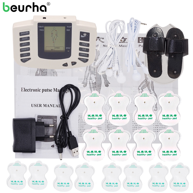 Stimulator Body Electrical Muscle Russian Button Therapy Massager Pulse Tens Acupuncture Full Back Massage Relax Care 16 pads