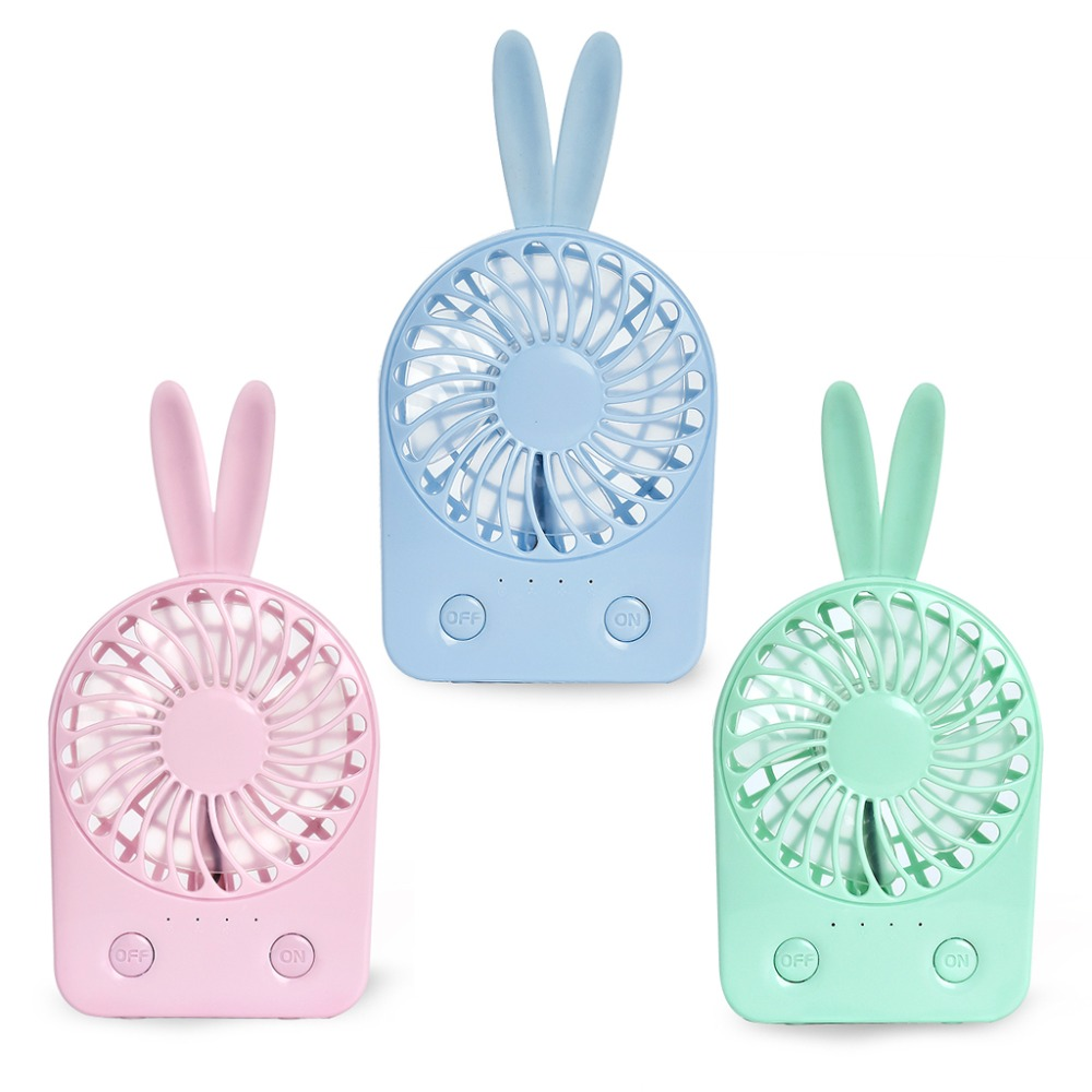 MEXI Random Color Rabbit Portable Handheld USB Mini Air Conditioner Rechargeable Cooler  ...