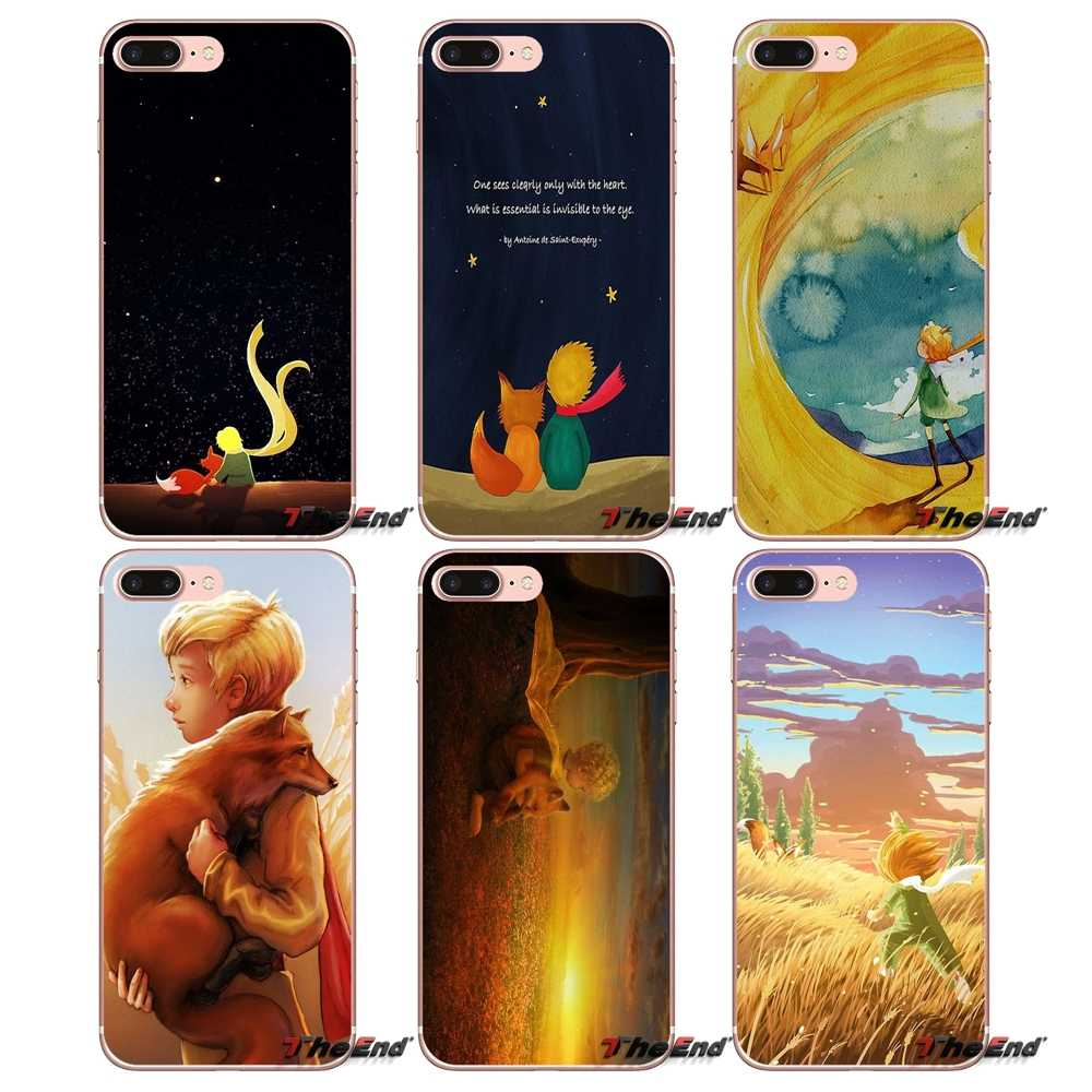 Voor iPhone X 4 4 S 5 5 S 5C SE 6 6 S 7 8 Plus Samsung Galaxy J1 J3 J5 J7 A3 A5 2016 2017 de kleine prins fox illustratie Case