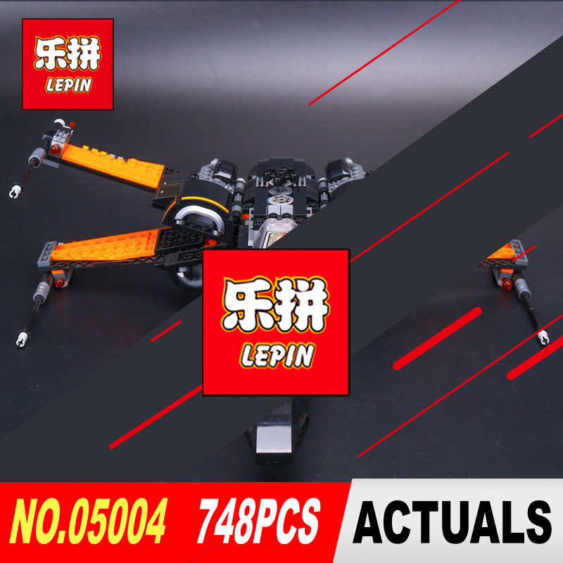 LEPIN 05004 Star Series Wars First Order Poe's X Fighter Assembled wing Toy Building Block Compatible With legoed 75102 gift hot sale building blocks assembled star first wars order poe s x toys wing fighter compatible lepins educational toys diy gift