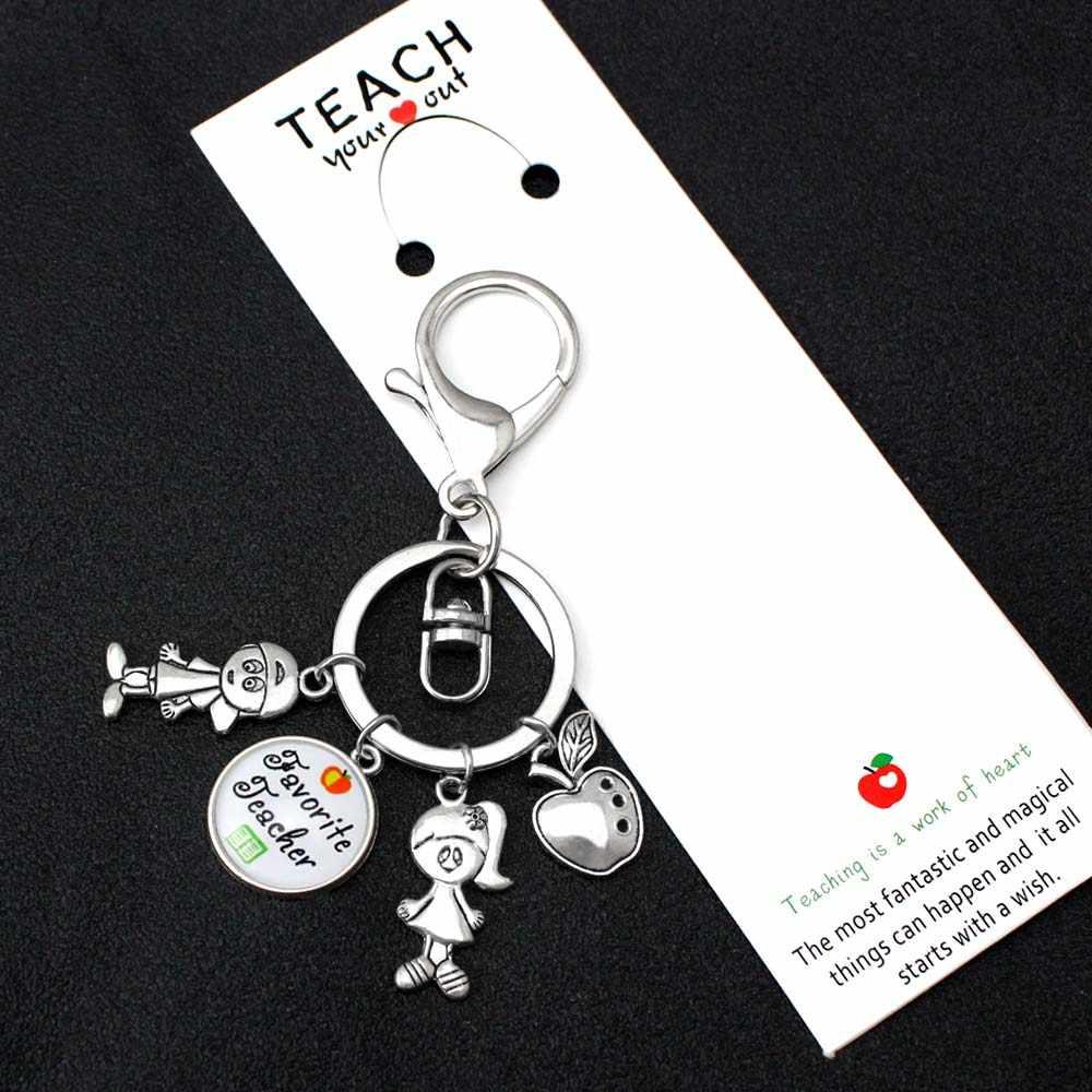 Professor apreciação apple ensinar amor inspirar chaveiros crianças encantos chaveiro chaveiro feminino masculino unisex chaveiro jóias
