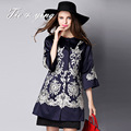 Coat women autumn 2015 new arrival high quality America and Europe fashion runway luxury elegant  loose embroidery coat female