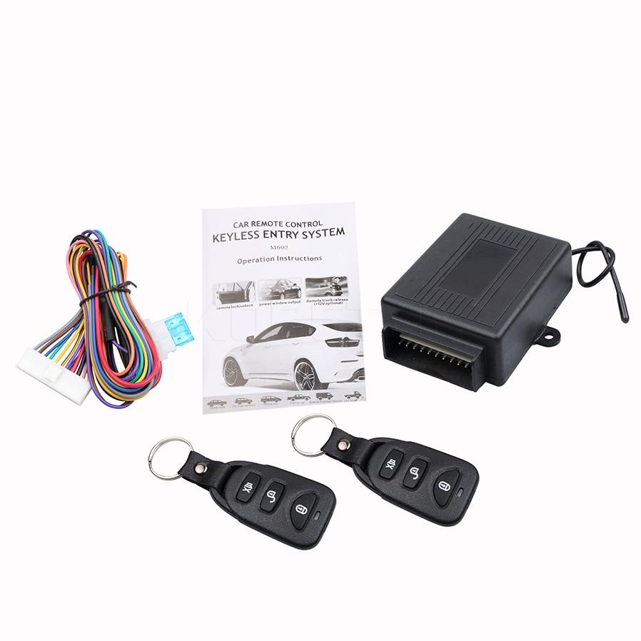 imágenes para 433.92 MHz Kit de Sistemas de Alarma de Coche Auto Remoto Cerradura de La Puerta Sistema de Entrada Sin Llave De Bloqueo Del Vehículo Nuevo Con Mandos A Distancia