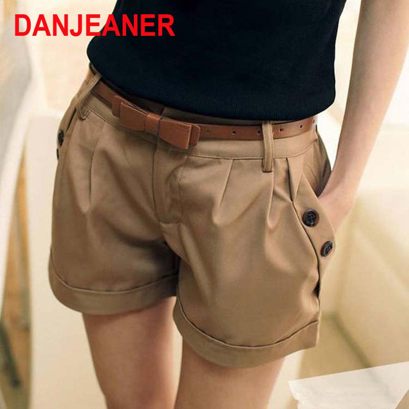 2016 New Fashion Women Summer Shorts England Style Kvinne Casual Ladies Shorts Without Belt A0016