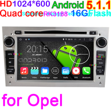 Quad Core Android 5.1.1 Audio DVD GPS for Opel Astra Zafira Vivaro Vectra Corsa Antara Meriva with 1024*600 Screen 16G NandFlash