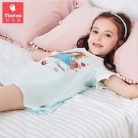 Tinsino 2018 Mädchen Sommer Cartoon Nachthemden Kinder Kurzarm Prinzessin Pyjamas Kinder Nachtwäsche Kleidung Hause Kleid Kleidung