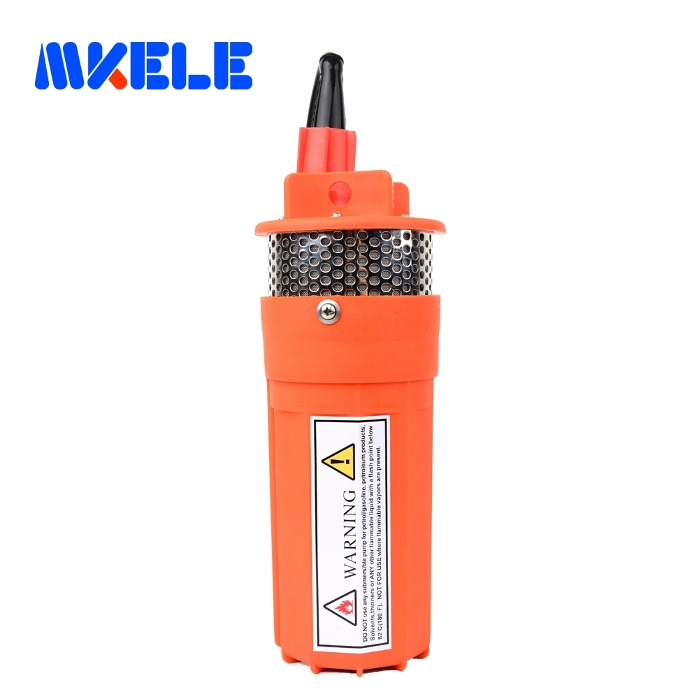 DC 12/24V 360LPH 70M Lift Small Submersible Power Solar Water Pump For Outdoor Garden Deep Well Submersible well pump mkbp g750 24 24v 750gph bilge pump small dc submersible water pump for fountain garden irrigation swimming pool cleaning farming