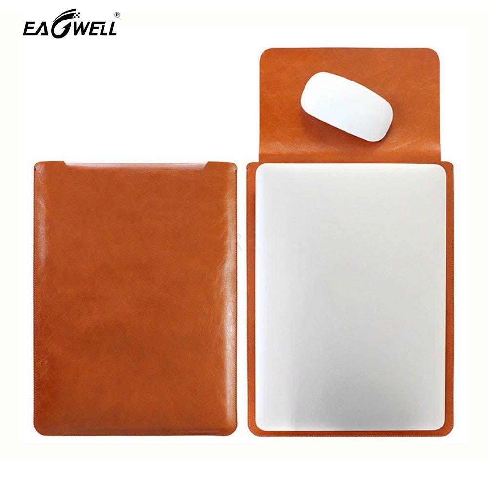 PU Leather Laptop Bag Sleeve Case For Macbook Air Pro Retina 11 13 15 Inch Universal Notebook Computer Pouch Portable Bag Cover
