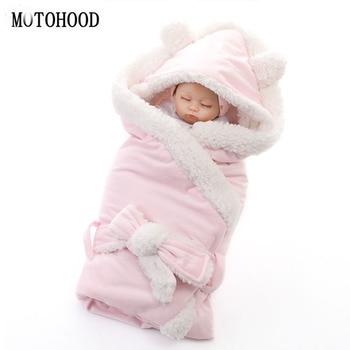 MOTOHOOD Inverno Do Bebê Das Meninas Dos Meninos Cobertor Envoltório Swaddle Saco de Dormir Para Recém-nascidos Do Bebê de Dupla Camada de Lã Cobertor Da Cama De Bebê